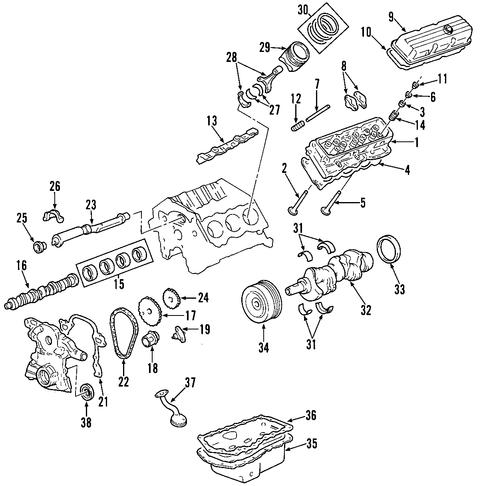Replace 3800 V6 Belt also T3223474 Serpentine belt diagrams 2003 bonneville also Engine Scat moreover 3800 V6 Engine Sensors Diagram further 3 8l Engine Exploded View Ford. on gm 3 8l v6 engine series