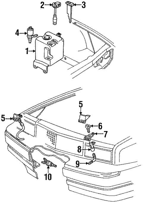 oem washer components for 1988 cadillac allante