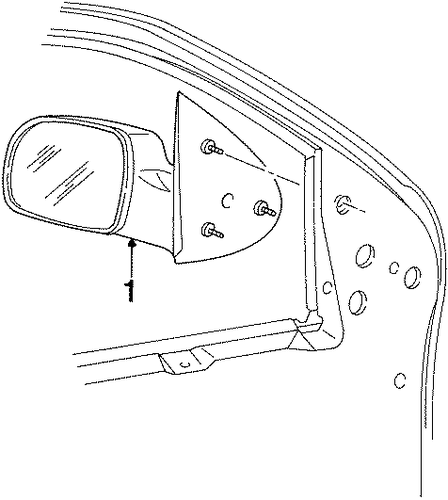 OUTSIDE MIRRORS For 2002 Ford Windstar