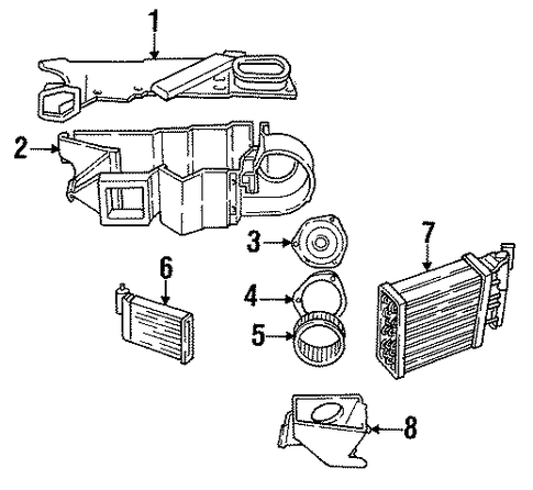 Cc A F Ca Ce E B D B on 1996 Dodge Dakota Heater Core Replacement