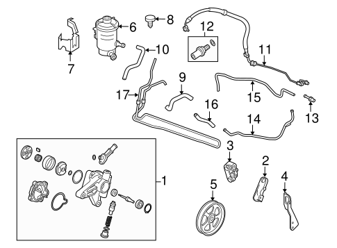 Hose, Power Steering Feed - Honda (53713-TP6-A01)