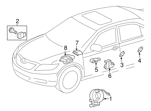 ELECTRICAL/AIR BAG COMPONENTS for 2009 Toyota Corolla #1