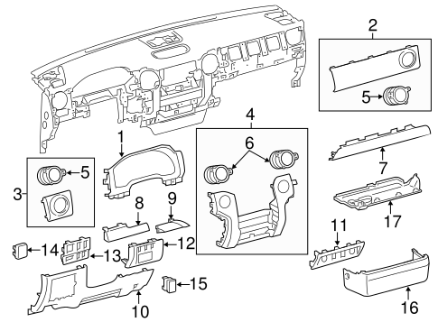 Center Molding - Toyota (55474-0C050-C0)