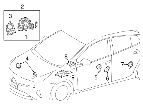 ELECTRICAL/AIR BAG COMPONENTS for 2016 Toyota Prius #2