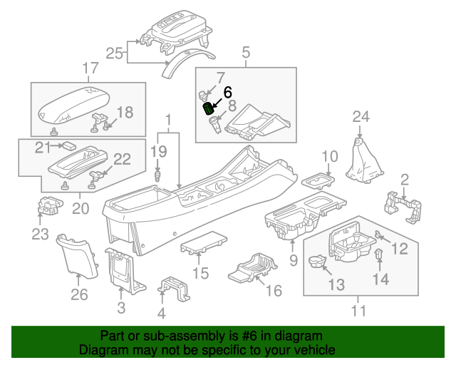 2001 Honda ACCORD SEDAN DX (SIDE SRS) SOCKET, ACCESSORY - (39620S01A01)
