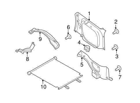 Nissan Xterra Body Parts Catalog