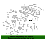 1997 Honda CIVIC SEDAN DX BRACKET, INSTRUMENT CENTER - (77169S04000ZZ)