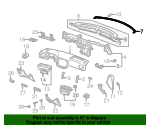 1997 Honda CIVIC SEDAN DX SEAL, FR. INSTRUMENT - (77466S04000)