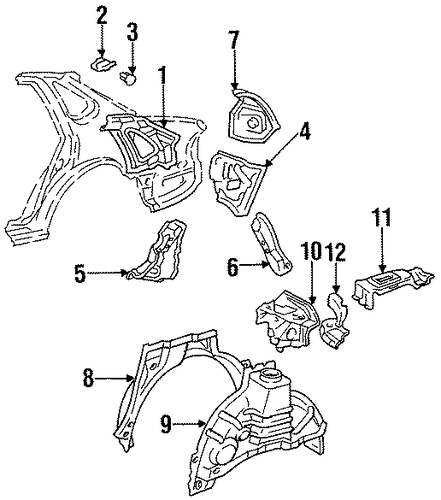 BODY/INNER STRUCTURE for 1997 Toyota Avalon #1