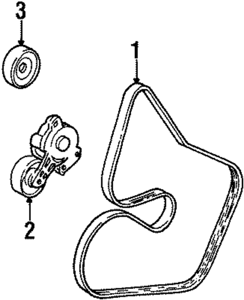 BELTS & PULLEYS For 1999 Lincoln Continental