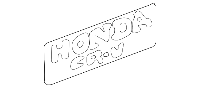 OEM Honda 75723-S10-A01ZA - Sticker (Type A) (Honda Cr-V)