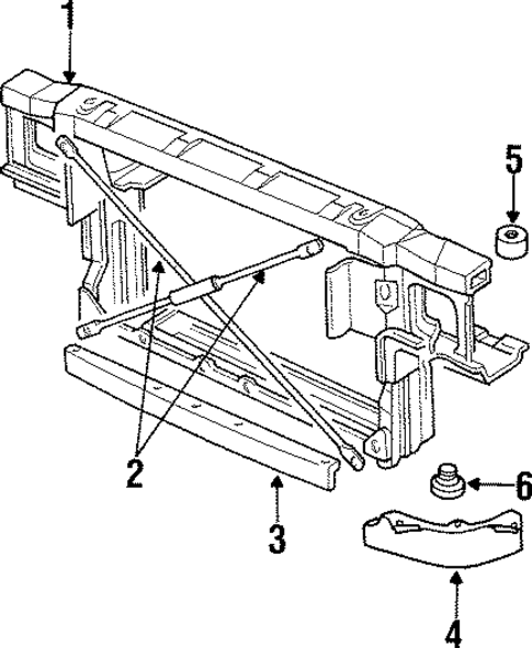 radiator support for 1995 chevrolet impala  ss
