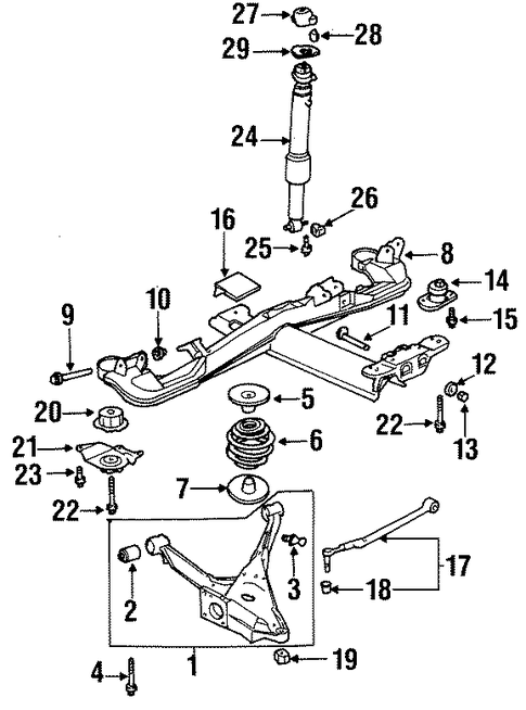 97 oldsmobile 88 rear suspension