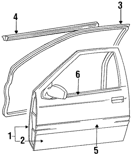Door Shell - Toyota (67002-16332)