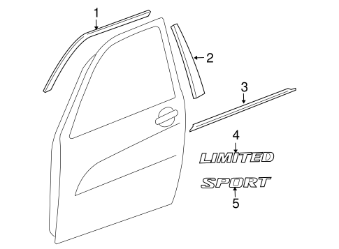 BODY/EXTERIOR TRIM - FRONT DOOR for 2007 Toyota RAV4 #1