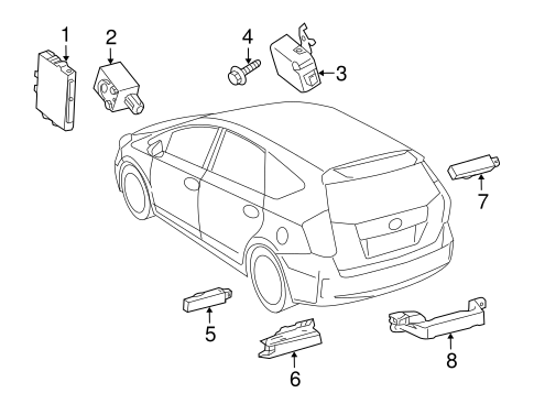 ELECTRICAL/KEYLESS ENTRY COMPONENTS for 2015 Toyota Prius V #1
