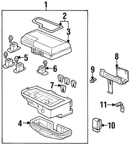 OEM Honda 90122-SH3-000 - Fuse Box Screw