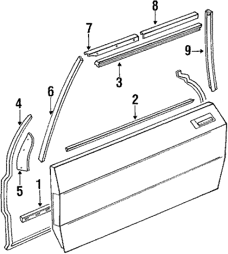 door components for 1989 mercedes benz 560sl