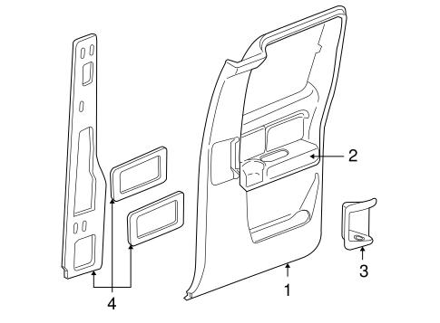 Door Trim Panel Left For 2004 Chevrolet Silverado 2500 Hd 15291354 Gm Parts Direct Your
