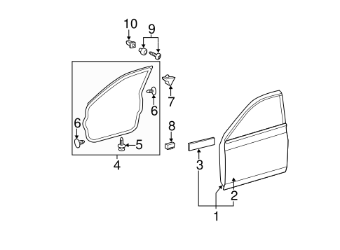 Door Weather-Strip - Toyota (67861-AC030)