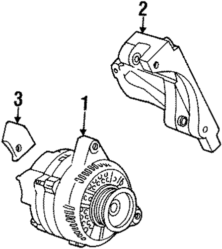 For Mercury Cougar 2000 2002 Replace 2fzw Remanufactured: ALTERNATOR For 2000 Mercury Cougar