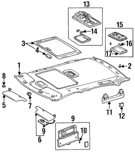 BODY/INTERIOR TRIM - ROOF for 1998 Toyota Avalon #2