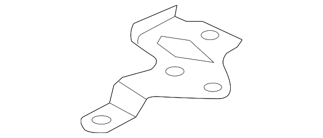 OEM Honda 17256-5K0-A00 - Upper Resonator Mount Bracket