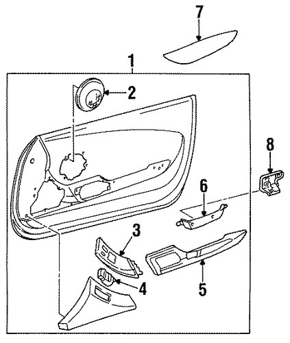 BODY/INTERIOR TRIM - DOOR for 1997 Toyota Supra #1