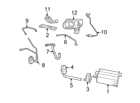 emission components for 2014 jeep compass