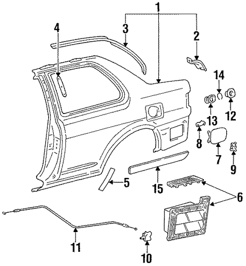 Rear Drip Rail - Toyota (61268-16090)