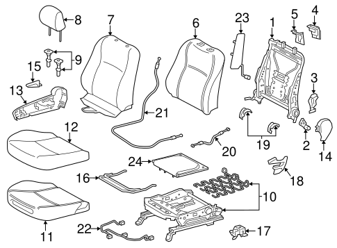 BODY/PASSENGER SEAT COMPONENTS for 2015 Toyota Yaris #2
