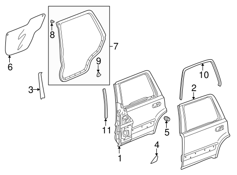 OEM Honda 67826-S10-A01 - Outer Panel Tape