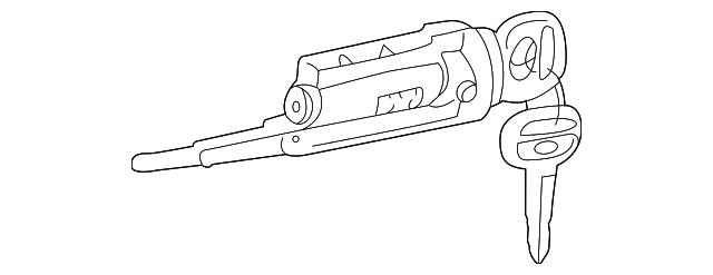 oem cylinder  u0026 keys for 1997 toyota 4runner