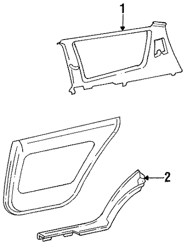 Upper Quarter Trim - Toyota (62470-06040-B0)