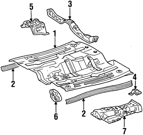 Foot Rest - Toyota (58191-16060)