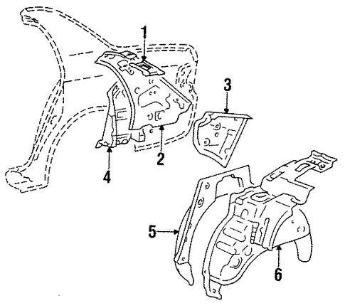 BODY/INNER STRUCTURE for 1997 Toyota Corolla #2