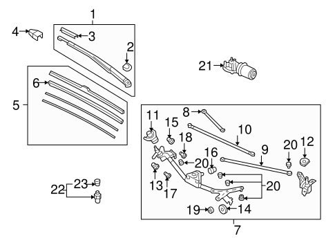 OEM Honda 76610-SNA-A11 - Wiper Arm