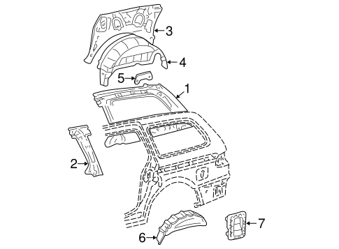 BODY/INNER STRUCTURE for 2002 Toyota Sienna #1