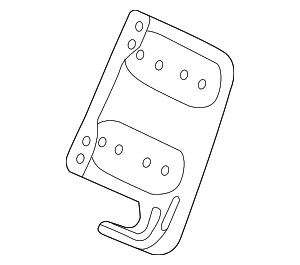OEM Honda 39111-T2A-000 - Bracket, R Audio