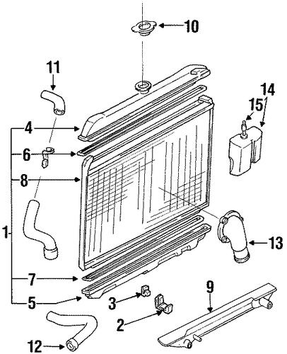 radiator  u0026 components for 1994 nissan d21