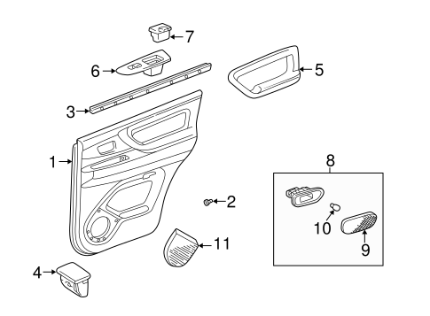 Door Trim Panel - Toyota (67640-60A70-B0)