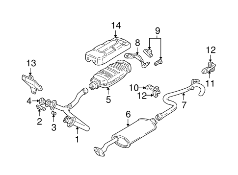 oem exhaust components for 1994 gmc sonoma