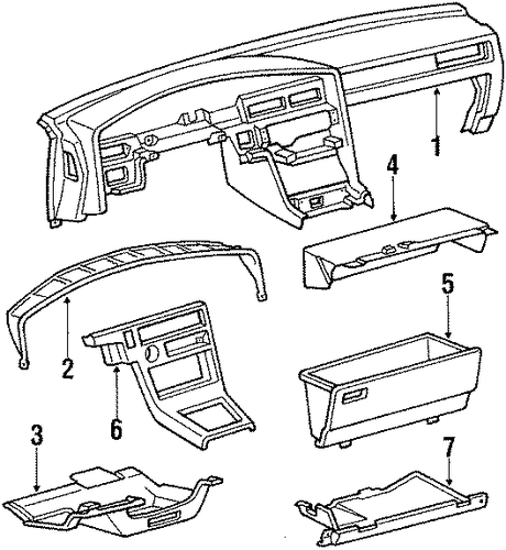 Glove Box Frame - Toyota (55531-14110)