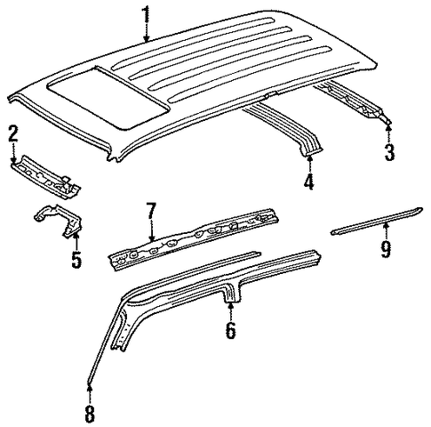 BODY/ROOF & COMPONENTS for 1996 Toyota Land Cruiser #1