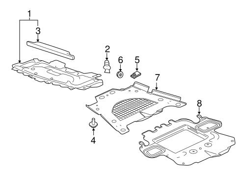 splash shields for 2008 cadillac cts. Black Bedroom Furniture Sets. Home Design Ideas