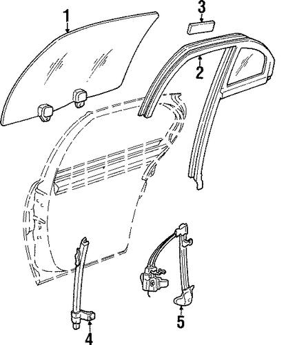 Oem glass rear door for 1999 pontiac grand prix for 1999 pontiac grand prix window regulator