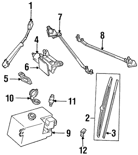 oem wiper  u0026 washer components for 1992 chevrolet c1500