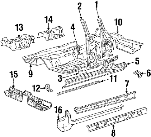 Floor Rail - Toyota (57418-20060)