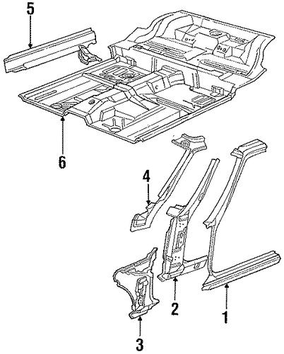 Floor Pan For 1990 Dodge Daytona : Potamkin Parts