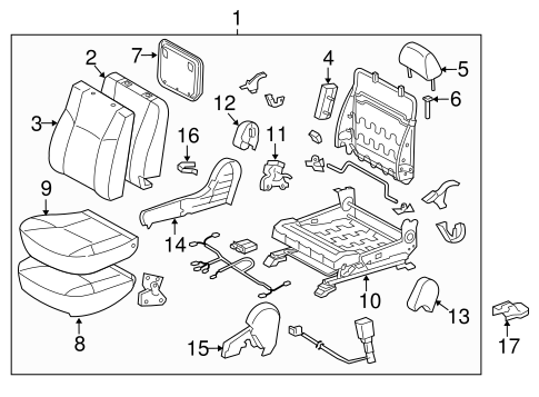 BODY/FRONT SEAT COMPONENTS for 2015 Toyota Tacoma #2